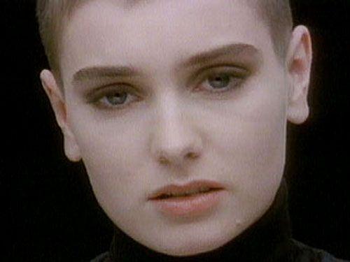 Irish singer shaved head
