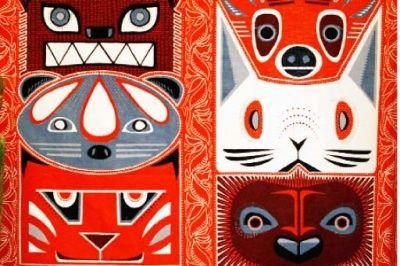 Cowboys, buffaloes and batik -design competition/ usa winners made into batik in Indonesia