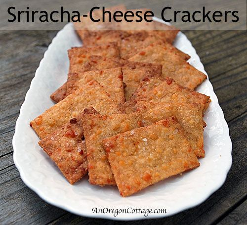Whole Wheat Sriracha-Cheese Crackers