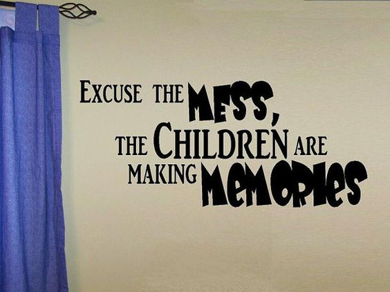 vinyl wall decal quote Excuse the mess the por WallDecalsAndQuotes