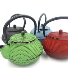 Shippig livre ferro fundido bule de chá com metal filtro net japonês bule revestimento de partículas de água 0.35l kungfu chinês ferramentas de chá(China (Mainland))