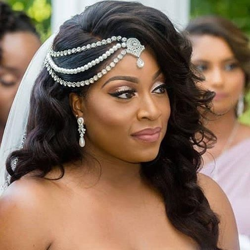 21+ Coiffure mariage avec robe longue des idees