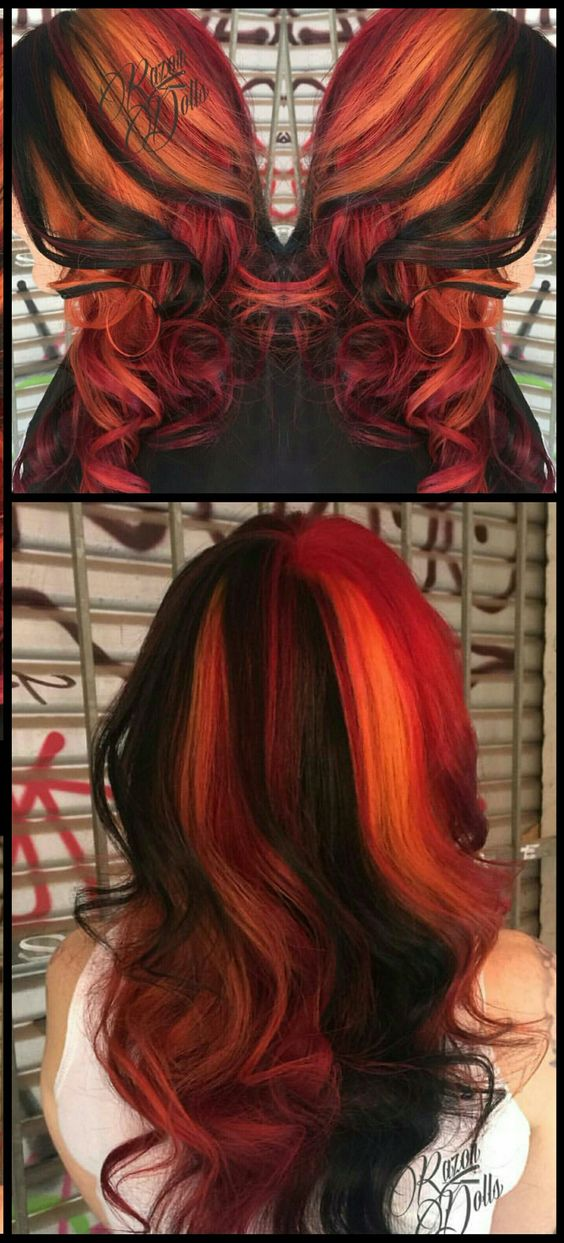 Dyed hair @razordolls: