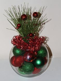 Christmas Centerpiece Christmas by GlitterGlassAndSass on Etsy #glitterglassandsass #christmas