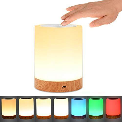 Touch Lamp Comkes Bedside Lamp For Bedrooms Living Room Https Www Amazon Com Dp B0776vdjjk Ref Cm Sw R Touch Lamp Bedside Lamp Led Color Changing Lights
