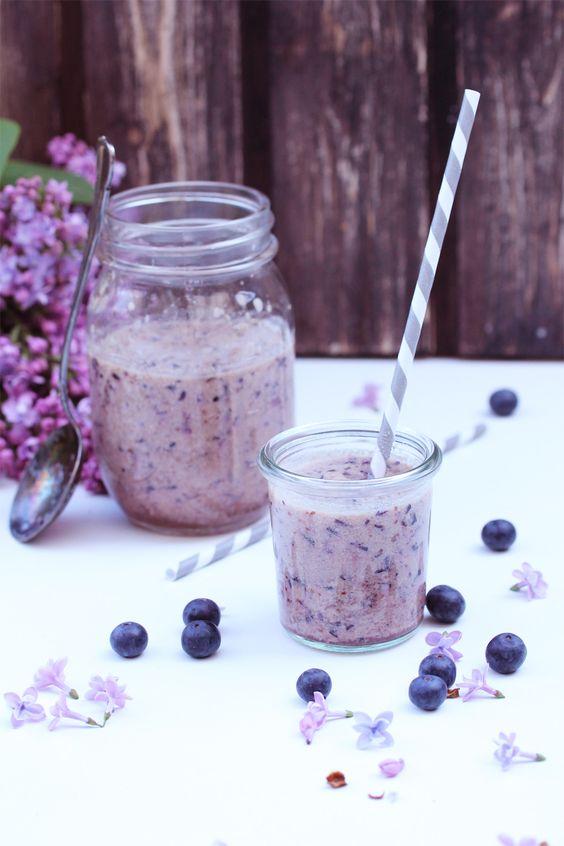 ... blueberry milkshake ...