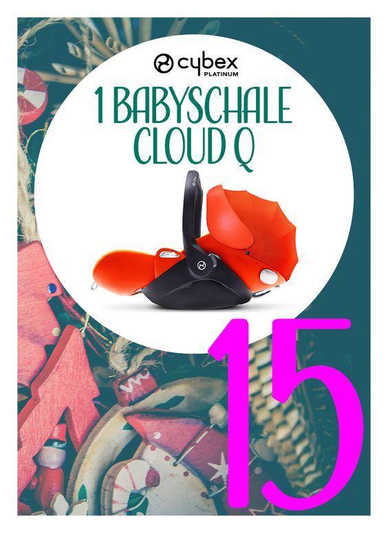 Was für ein Hammer-Preis Bitteschön! Wir verlosen heute die Babyschale Cloud Q von CYBEX. Im Türchen 15! Schnell aufmachen.