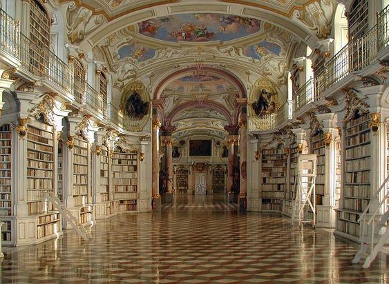 Admont Abbey Library – Austria.   photo by Ognipensierovo