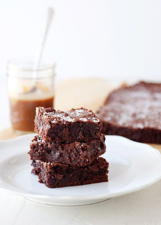 salted caramel brownies. oh, my.