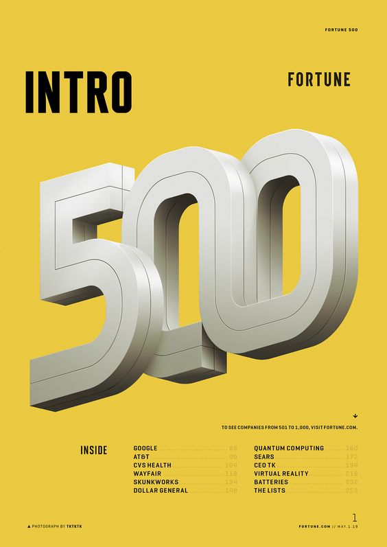 Fortune 500 | 2019 Intro Typography on Behance