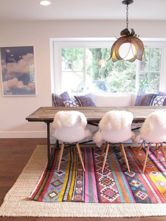 layered rugs Tribal   Design   Color   Pattern   Decor   Trends