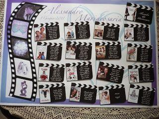 Tableau Mariage Tema Film D Amore Feste A Tema Hollywood Idee Matrimonio Estivo Idee Per Il Compleanno