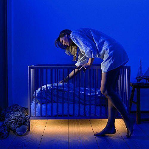 PIR Motion Activated Bed Light Flexible LED Strip Motion Sensor Night Light Kit