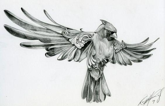 Cardinal sketch - reminds me of my Grandma Ruby.....