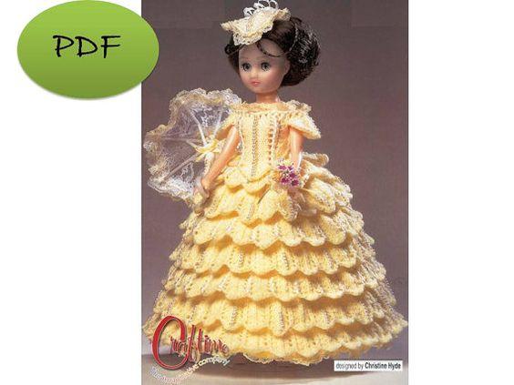 Vintage Barbie Dress Knit Digital Pattern by GavryDollsPattern, $1.30