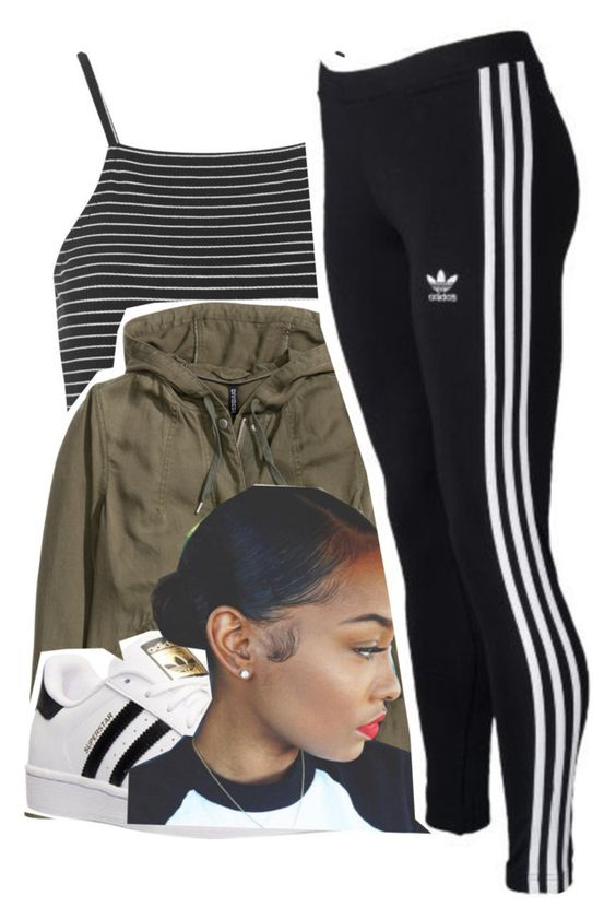 """""""06.10.16"""" by lookatimani ❤ liked on Polyvore featuring Topshop, H&M and adidas"""