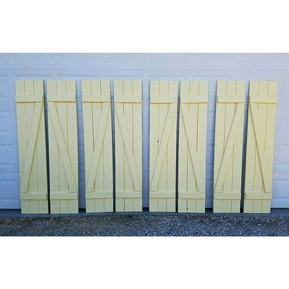 BM Hawthorne yellow--Sent out some shutters with a little color today!