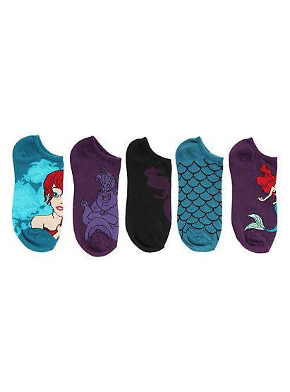 Disney The Little Mermaid Scales No-Show Socks 5 PairDisney The Little Mermaid Scales No-Show Socks 5 Pair,