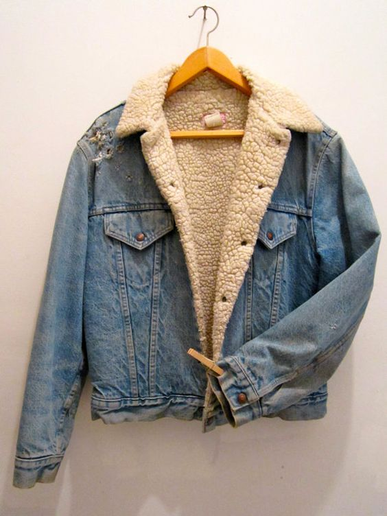 Vintage Levis Sherpa Fleece Lined Denim Jacket by MotorTownVintage