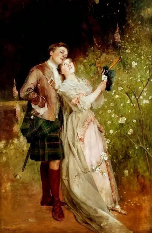 William Ewart Lockhart (scottish, 1846-1900) - The White Cockade 1899: