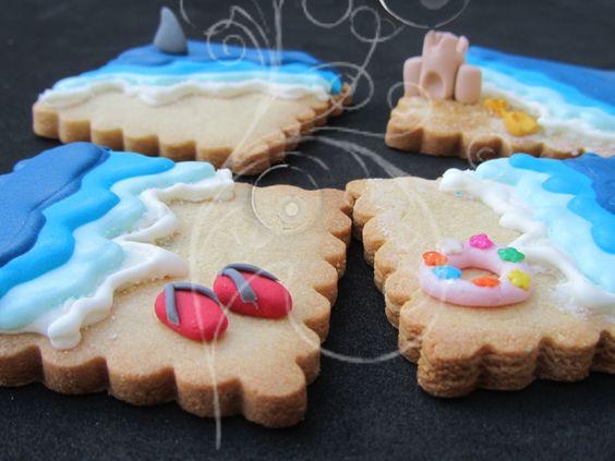 Beach cookies by En Ocasiones Veo Cupcakes