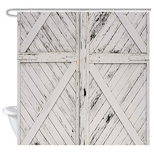 Nymb Vintage Old Rustic White Painted Barn Wood Door Farmhouse