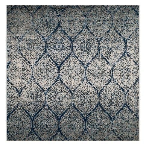 9 X9 Shapes Loomed Square Area Rug Navy Silver Safavieh Square Area Rugs Blue Gray Area Rug Area Rugs