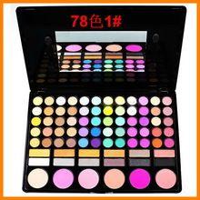 78 cor eyeshadow palette cosméticos sombra pincéis de maquiagem de(China (Mainland))