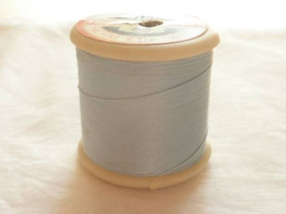 Sewing Machine アンティークミシン糸ブルー イギリス製ブロカント裁縫青 インテリア 雑貨 家具 Antique ¥380yen 〆07月09日