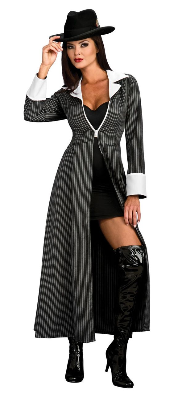Mobster women costumes | Adult Gangster Costume - Gangster and Mobster Costumes | Pin up hair ...