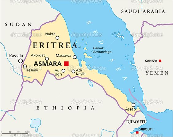 Eritrea Is Located In East Africa And Is A Part Of Horn Of Africa