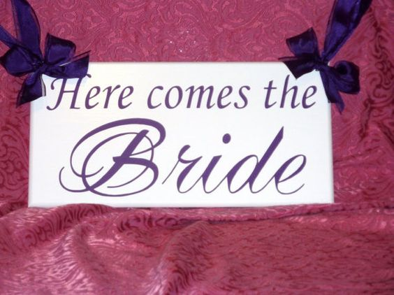 Here Comes the Bride...Just Married...they lived by WeddingDaysToo, $30.00