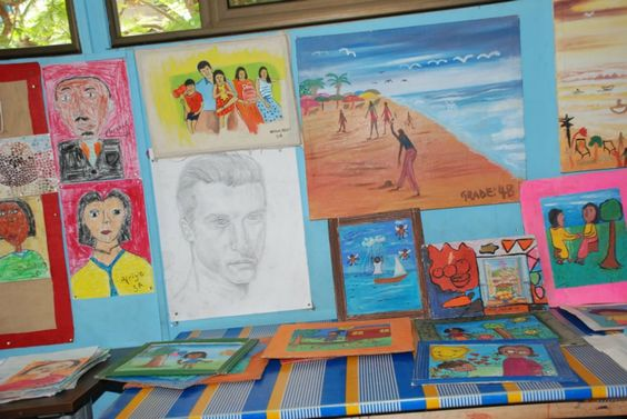 Lovely art works by the children.