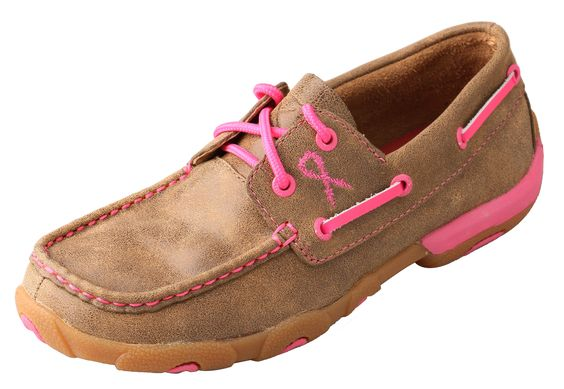 Twisted X Women's Breast Cancer Awareness Driving Moc