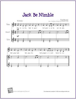 jack be nimble free sheet music orff orchestration orff arrangements free sheet music. Black Bedroom Furniture Sets. Home Design Ideas