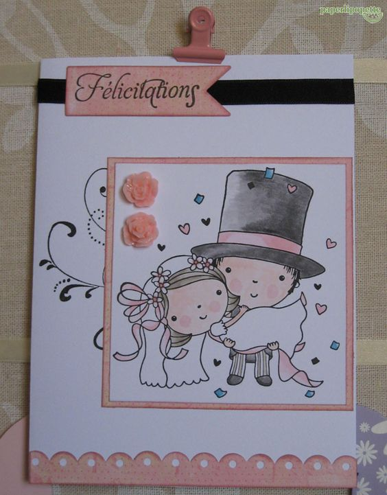 Weeding card with Penny Black stamp