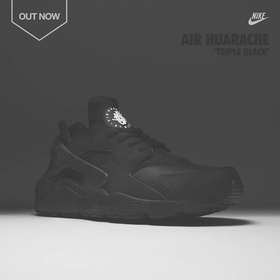 Nike Air Huarache Triple Black Cheap