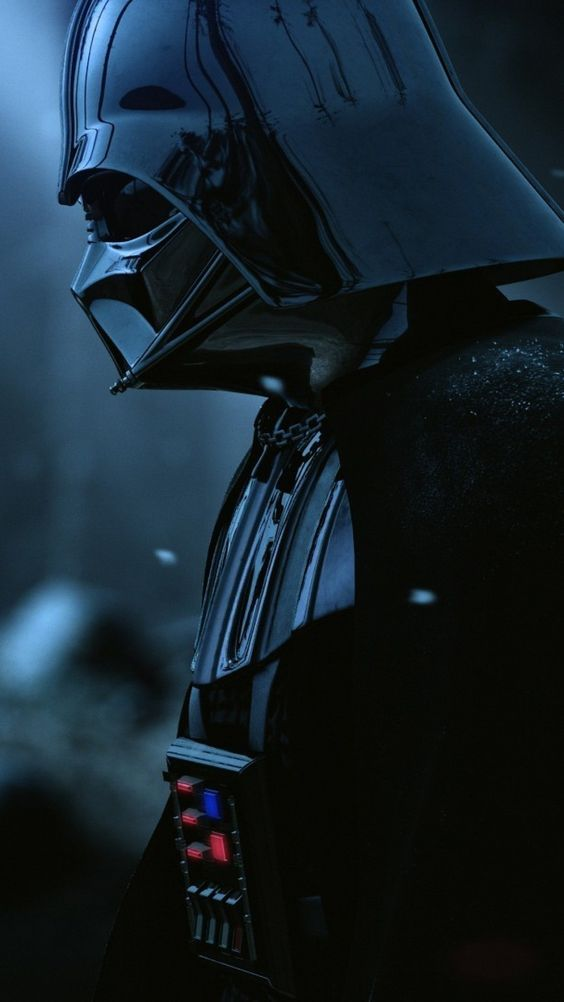 I picture my husband as Darth Vader. Calm. Still. Discerning. Resolute. IN command of his powers.