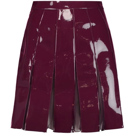 Plum leather skirt – Fashionable skirts 2017 photo blog