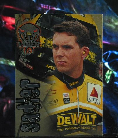 http://nascarniche.blogspot.com/  Hermie Sadler 1996 Wheels Viper Trading Card #54 Base Set Nascar
