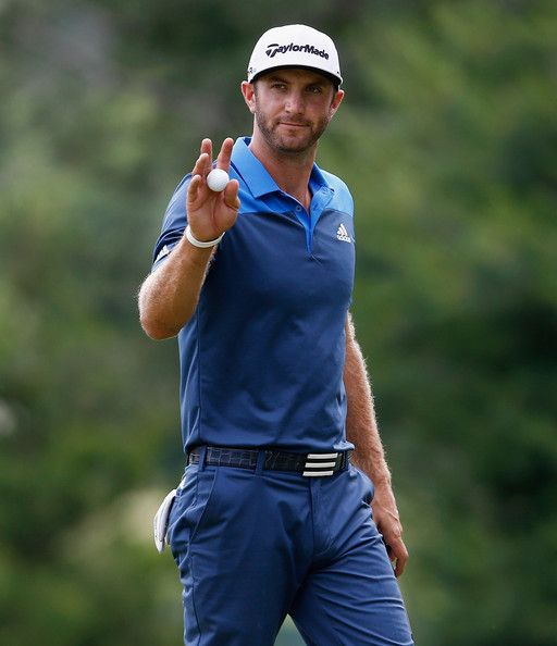 dustin johnson   Dustin Johnson Dustin Johnson of the United States waves to the crowd ...