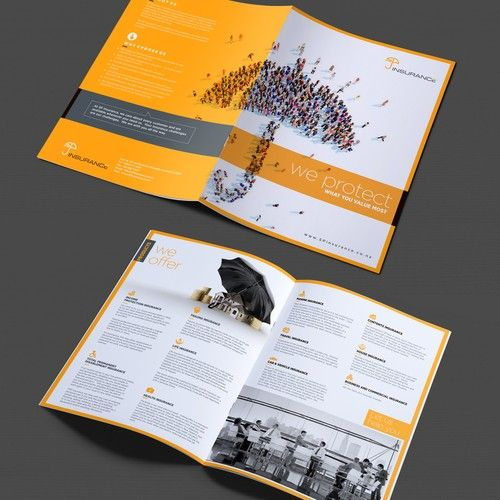 Design A Brochure For Sp Insurance We Are One Of The Insurance
