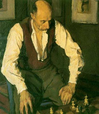 The Chess Player Painting | The Chess Player - Corneliu Baba - WikiPaintings.org