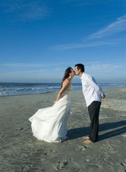 beach wedding . brosphoto.com