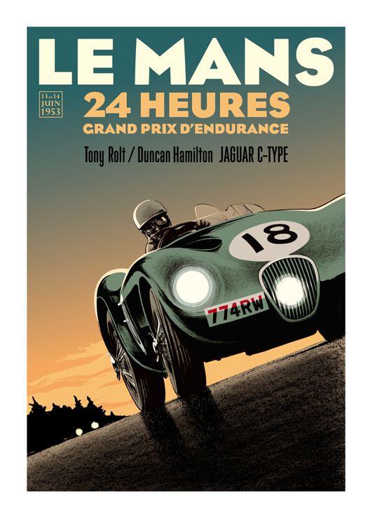 Guy Allen — Rolt / Hamilton - Le Mans poster