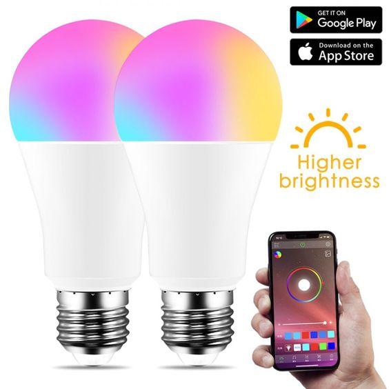 Nueva Bombilla Inteligente Inalambrica Bluetooth 4 0 Lampara De Iluminacion Para El Hogar 10w E27 Rgb Magico W Bombilla Led In 2020 Smart Bulb Smart Light Bulbs Bulb
