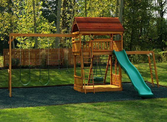 swings playgrounds roof ideas towers backyards king forts ideas ems