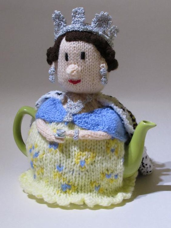 Looking for your next project? You're going to love Queen Tea Cosy Knitting Pattern by designer susan_teacosyfolk.: