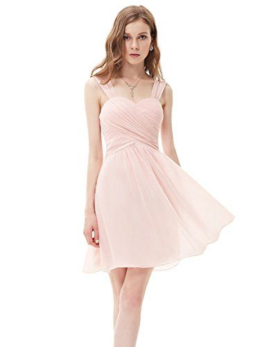 Ever Pretty Juniors Short Summer Beach Dresses Pink Chiffon ...