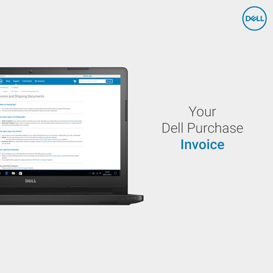 Looking for your #Dell purchase invoice? We have it right here for - purchase invoice